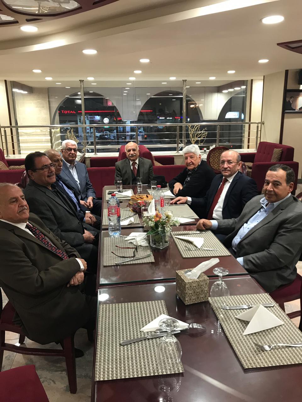 لقاء الامين العام للمنتدى بأعضاء لجنة الزراعة والري