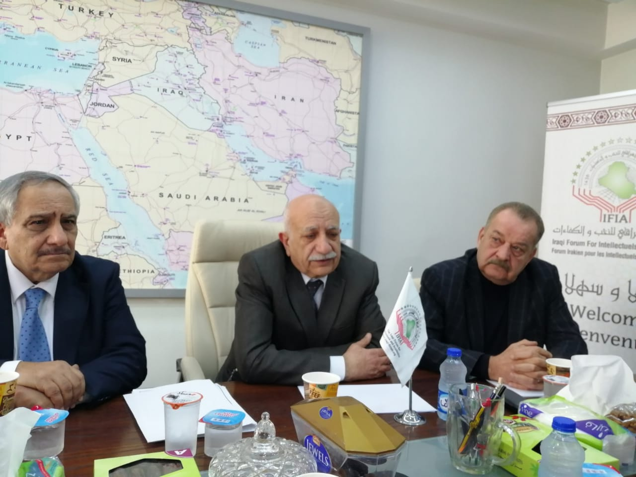 لقاء الأمين ألعام وفد جمعية الصداقة الفلسطينية العراقية في عمان
