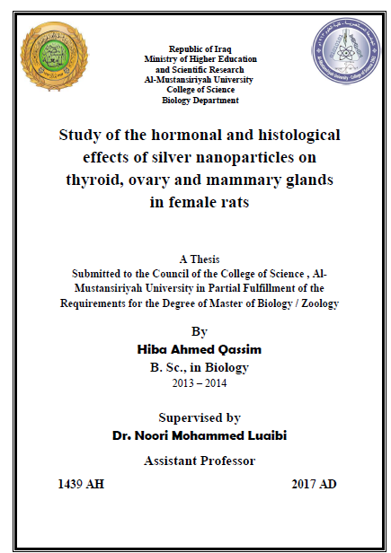 Study of the hormonal and histological effects of silver nanoparticles on thyroid, ovary and mammary glands in female rats